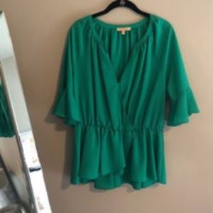 NWT Gibson Latimer Kelly Green Blouse XL